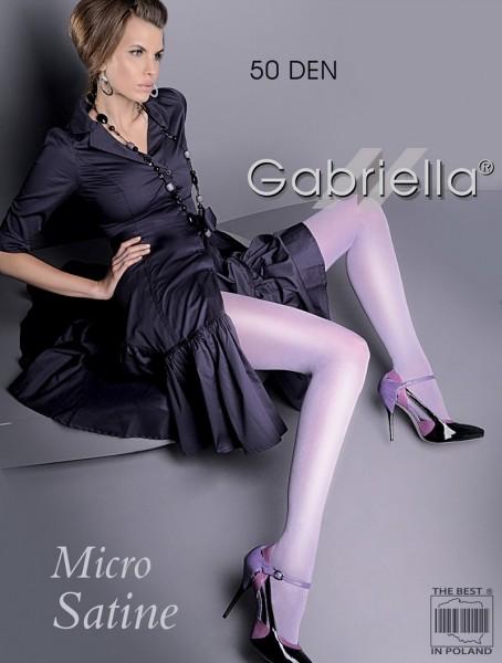 Gabriella glatte Strumpfhose im Wet-Look Micro Satin 50 den