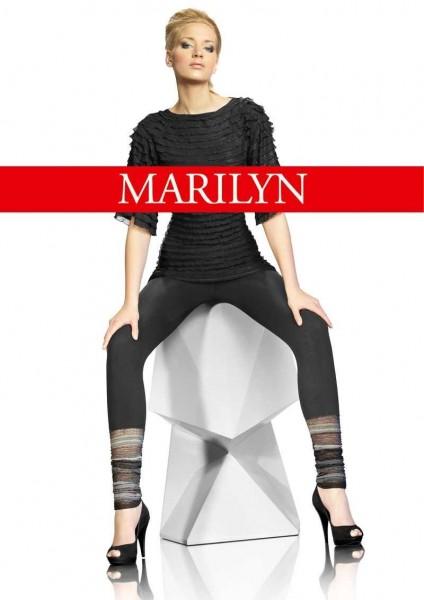 Marilyn Lange Leggings mit gerafftem Ziersaum Fantazy, 120 DEN