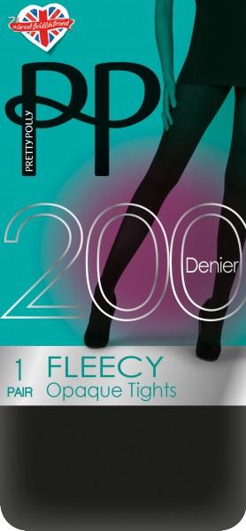 Pretty Polly Fleecy - Blickdichte wärmende Strumpfhose mit Fleece