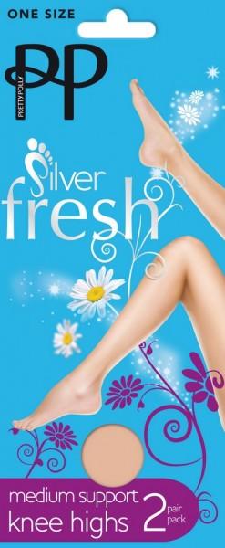 Pretty Polly Stuetzkniestruempfe mit Silberanteil fuer antibakterielle Wirkung Silver Fresh