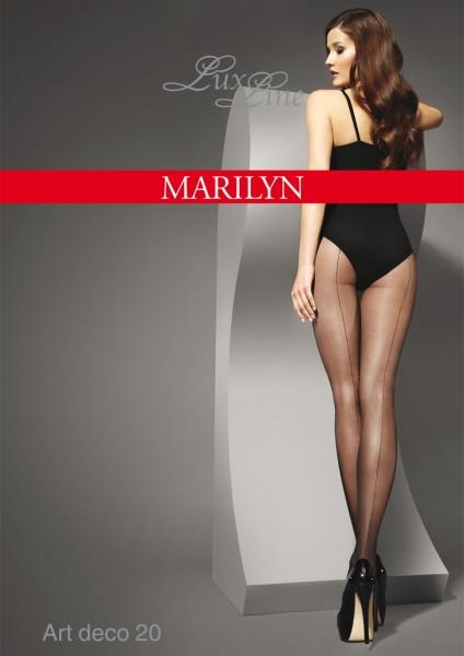 Klassisch elegante Nahtstrumpfhose Art Deco von Marilyn, 20 DEN