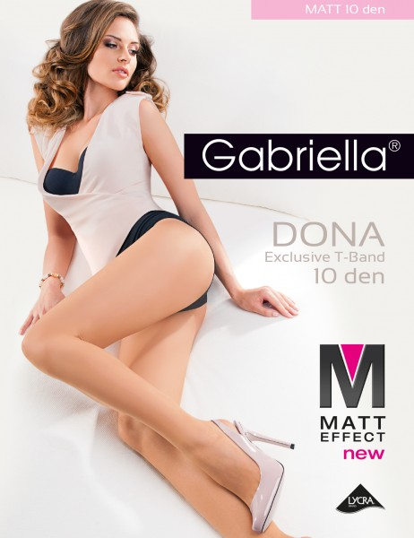 Gabriella Dona - Klassische matte Feinstrumpfhose für Sommertage