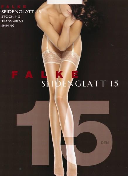 FALKE Seidenglatt 15 - Edle Strapsstrümpfe in leicht glänzendem Look