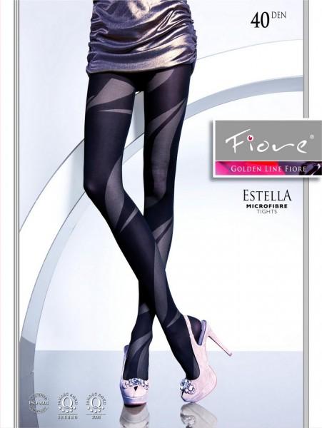 Fiore Modische Strumpfhose mit extravagantem Muster Estella 40 DEN