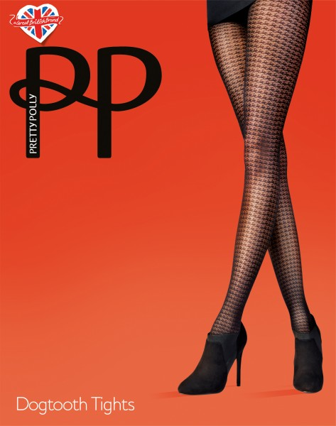 Pretty Polly Dogtooth - Feinstrumpfhose mit Hahnentrittmuster