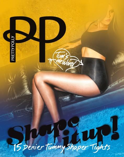 Pretty Polly Shape It Up Strumpfhose mit figurformendem Höschenteil für flachen Bauch