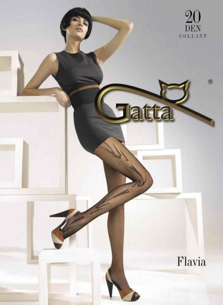 Gatta Trendy Feinstrumpfhosen mit Blumenmuster Flavia 20 DEN