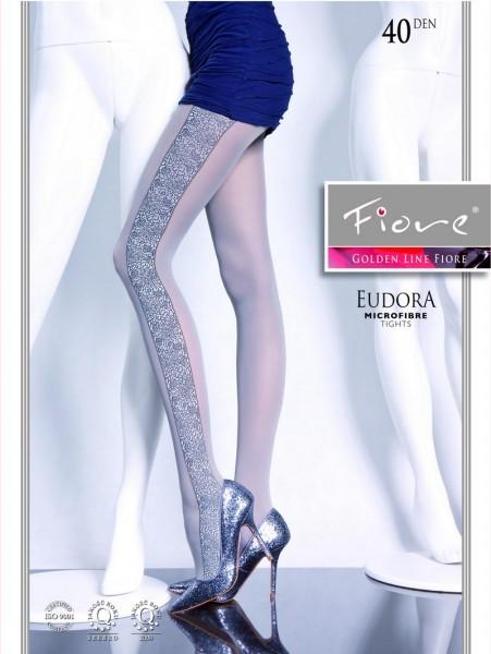 Fiore Strumpfhose mit extravagantem floralem Muster Eudora 40 DEN