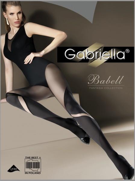 Bezaubernde Strumpfhose in raffinierter Overknee-Optik Babell von Gabriella