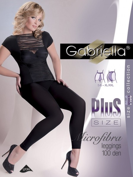 Gabriella Blickdichte glatte Leggings in uebergroessen Microfibre 100 DEN Plus Size