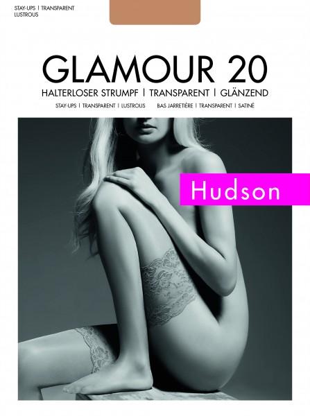 Hudson Elegante glänzende halterlose Strümpfe Glamour 20
