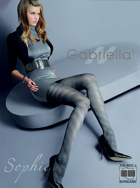 Gabriella Elegante Strumpfhose mit durchgehendem Muster Sophie, 60 DEN