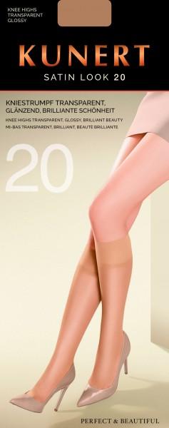 Kunert Satin Look 20 - Glänzende Kniestrümpfe