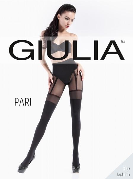 Giulia Pari 21 - Blickdichte Strumpfhose mit verführerischer Strapsoptik