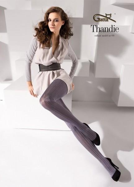 Gatta Strumpfhose mit Streifen-Muster Thandie 09, 40 DEN
