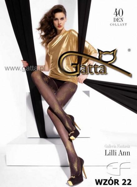 Gatta Elegante Strumpfhosen mit dezentem Muster Lilli Ann 22, 40 DEN