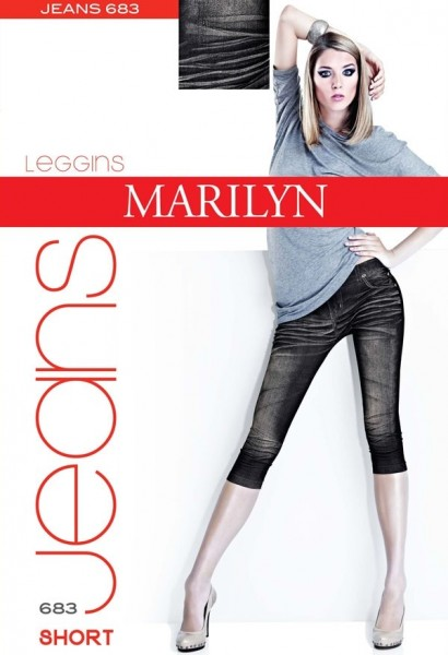 Marilyn Trendy Leggings in Jeansoptik, 3/4-Laenge, Jeans, 120 DEN