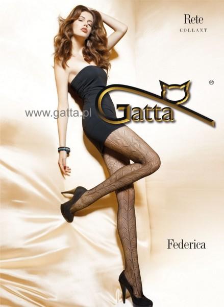 Gatta NetzStrumpfhose mit einem durchgehenden Muster Federica 05