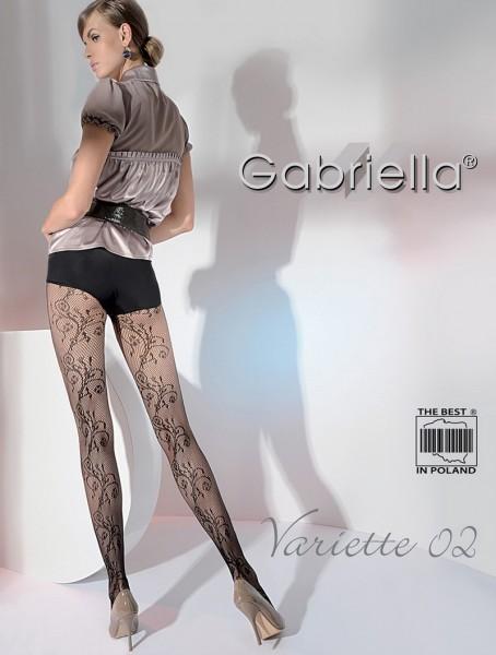 Gabriella Netzstrumpfhose Variette mit floralem Muster