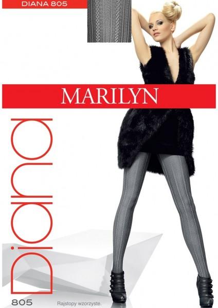 Marilyn Blickdichte Strumpfhose mit Streifen- und Zopfmuster Diana 60 DEN