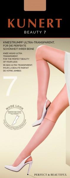 Kunert Beauty 7 - Ultraleichte Kniestrümpfe im Nude-Look