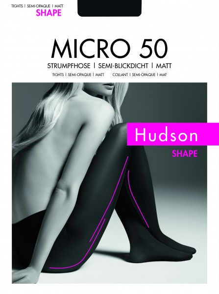 Hudson Micro 50 Shape - Blickdichte, matte Strumpfhose leicht figurformend