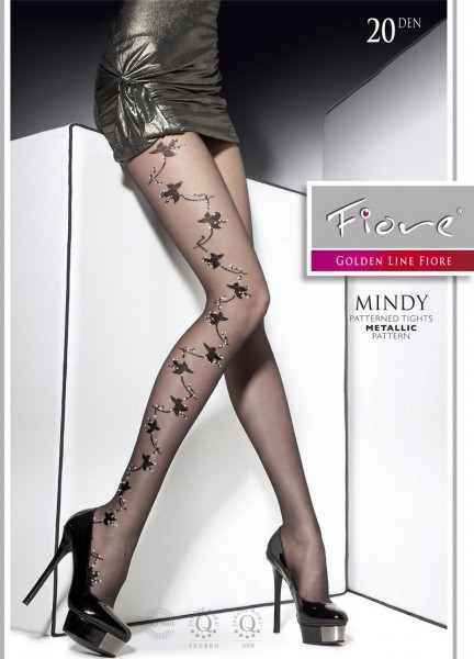 Fiore Elegante Strumpfhose mit glitzerndem floralem Muster Mindy