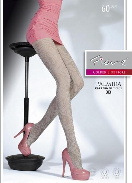 Fiore Blickdichte, elegant gemusterte Strumpfhose Palmira