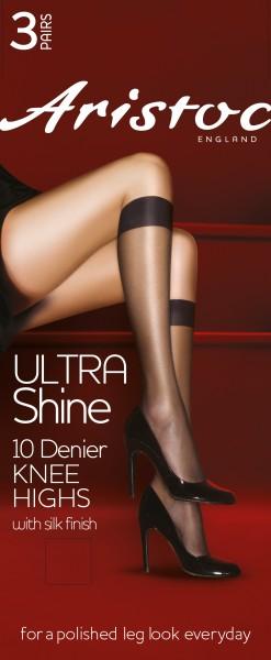 Aristoc Ultra Shine 10 denier - Glatte glänzende Kniestrümpfe