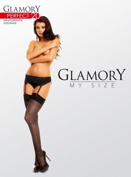 Glamory Perfect 20 - Klassische Strapsstrümpfe in Übergrößen