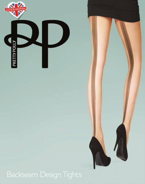 Pretty Polly Backseam Design Tights - Strumpfhose mit Muster in Naht-Optik