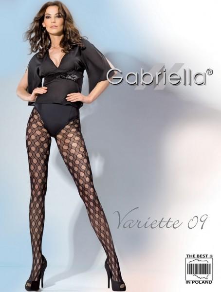 Gabriella Netzstrumpfhose Variette mit durchgehendem Muster