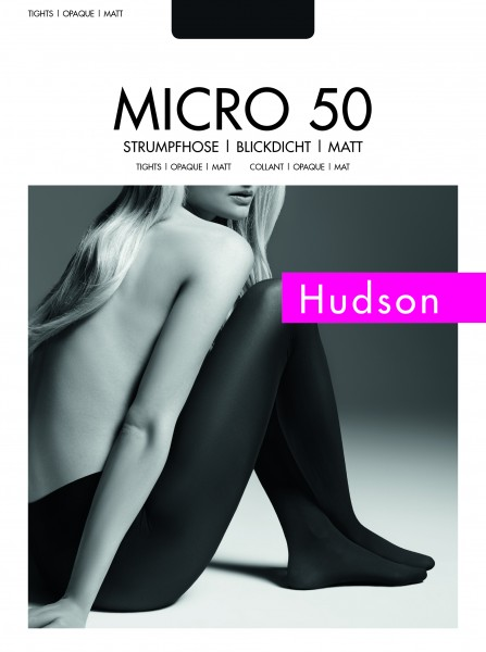 Hudson Blickdichte Strumpfhose ohne Muster Micro 50