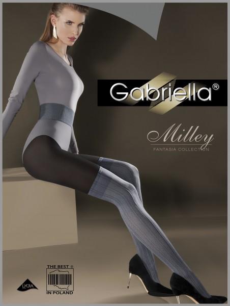 Gestreifte Strumpfhose im Overknee-Look Milley von Gabriella