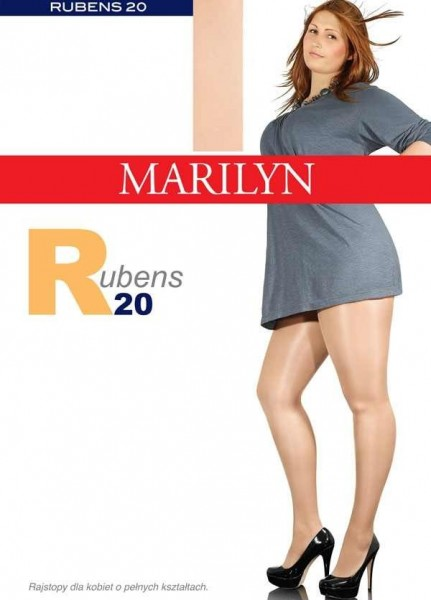 Marilyn Bequeme Strumpfhose fuer Frauen mit etwas ueppigerer Figur Rubens 20 DEN