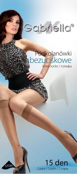 Gabriella Klassische Kniestruempfe ohne Muster, 15 DEN