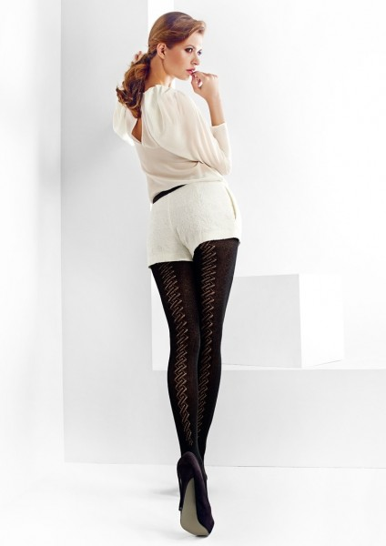 Marilyn Strumpfhose mit Lochmuster und einem hohen Anteil an Baumwolle Sophia