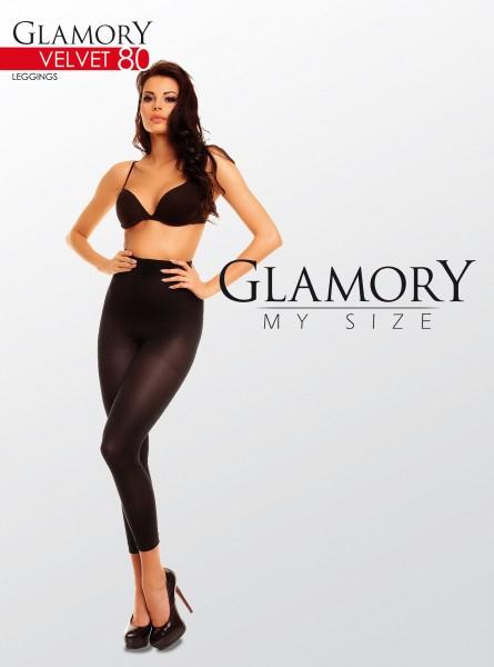 Glamory Velvet 80 - Blickdichte Leggings in Übergrößen