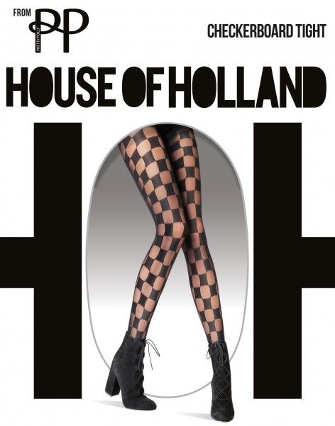 House of Holland for Pretty Polly Checkerboard - Feinstrumpfhose mit Schachbrettmuster
