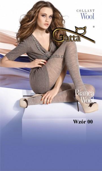 Gatta Warme Strumpfhose aus Wolle Bianca Wool