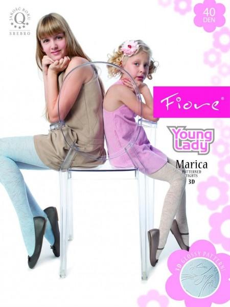 Fiore Kinderstrumpfhosen mit floralem Muster Marica 40 DEN
