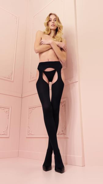 Trasparenze Cortina Blickdichte Strip Panty, 100 DEN