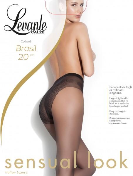 Feinstrumpfhose mit Bikini-Höschenteil Brasil von Levante, 20 DEN