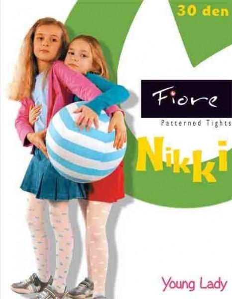 Fiore Kinderstrumpfhose mit Muster Nikki 30 DEN