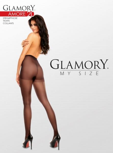 Klassische Nahtstrumpfhose in Übergrößen Amore 20 von Glamory