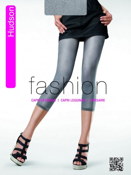 Hudson Capri Leggings in Jeans-Optik Glossy Filet 30 DEN