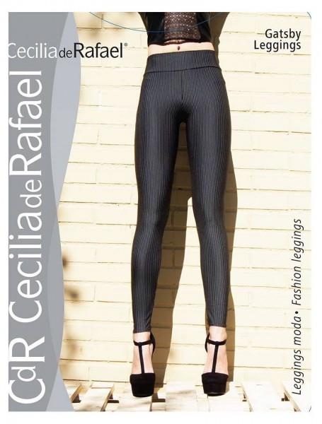 Cecilia de Rafael Gatsby - Klassisch elegante Leggings mit Nadelstreifen