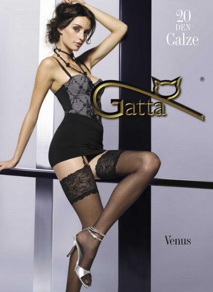 Gatta Strapsstruempfe mit dekorativer Spitze Venus