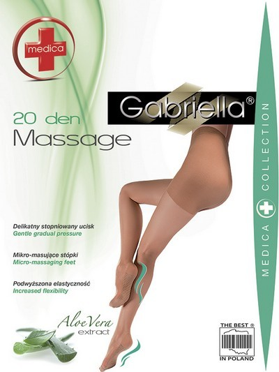 Gabriella Feinstrumpfhose mit Massage-Effekt, 20 den