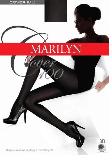 Marilyn Glatte, blickdichte Strumpfhose Cover 100 DEN